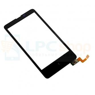 Тачскрин (сенсор) для Nokia X Dual (RM-980) Черный