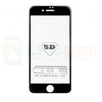 2,5D Защитное стекло (Full Screen) для iPhone 6 / 6S (полное покрытие 5D) 0,3мм Черное