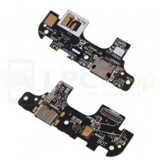 Шлейф разъема зарядки Asus ZS550KL (ZenFone 3 Deluxe) (плата) и микрофон