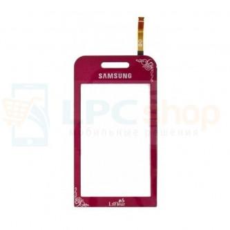 Тачскрин (сенсор) для Samsung S5230 La-Fleur Красный - Аналог