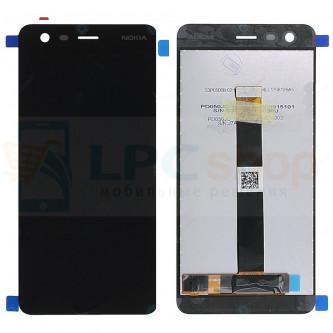 Дисплей для Nokia 2 в сборе с тачскрином Черный
