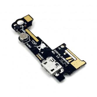Шлейф разъема зарядки Asus ZC551KL (ZenFone 3 Laser) (плата) и микрофон