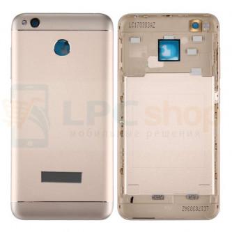 Крышка(задняя) Xiaomi Redmi 4X Золото + кнопки и линза камеры