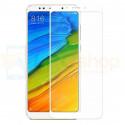 Защитное стекло (Full Screen) для Xiaomi Redmi 5 Белое (полное покрытие)