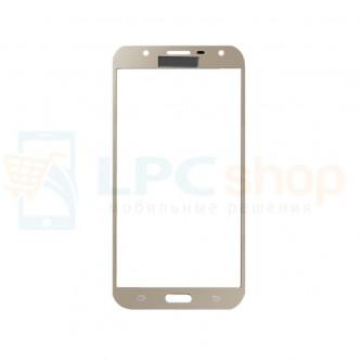 Стекло (для замены / переклейки) Samsung J7 Neo J701F Золотое