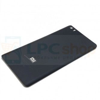 Крышка(задняя) Xiaomi Mi Note / Mi Note Pro Чёрная (Матовая  / пластик)