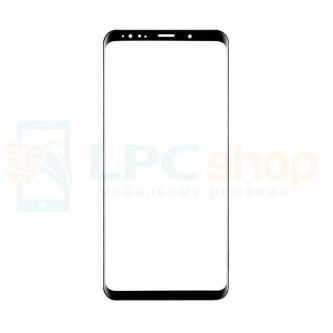 Стекло (для замены / переклейки) Samsung Galaxy S9+ Plus G965F Черное