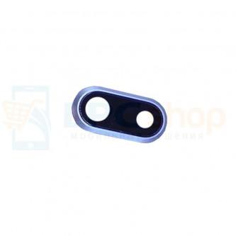 Стекло (для переклейки) камеры iPhone 8 Plus Серебро