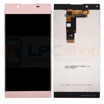 Дисплей для Sony G3311/G3312 (L1/L1 Dual) в сборе с тачскрином Розовый