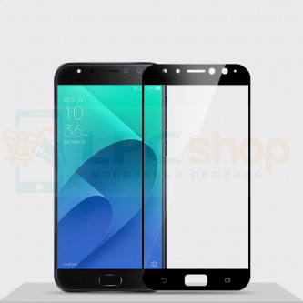 2,5D Защитное стекло (Full Screen) для Asus ZD552KL (ZenFone 4 Selfie Pro) (Полное покрытие) Черное