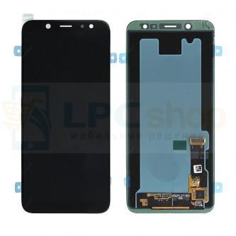 Дисплей для Samsung A6 2018 A600F  в сборе с тачскрином Черный - Оригинал