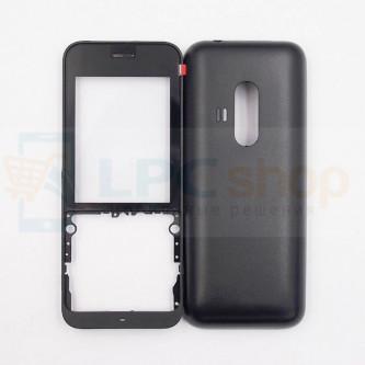 Корпус Nokia 220 / 220 Dual Черный + Стекло