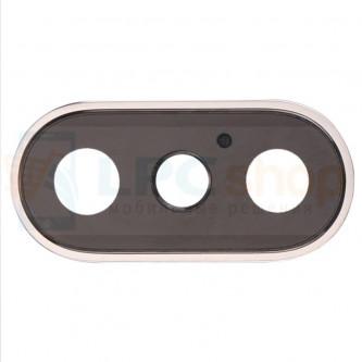 Стекло (для переклейки) камеры iPhone X Золото