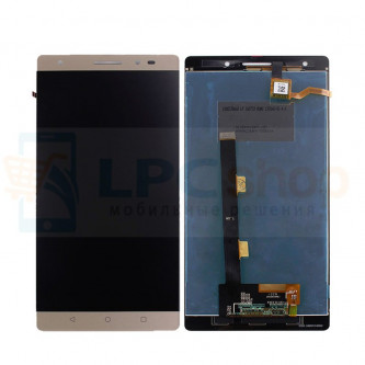 Дисплей для Lenovo Phab2 Plus PB2-670M  в сборе с тачскрином Золото