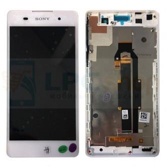Дисплей для Sony F3311 (E5) модуль с рамкой  Белый - Оригинал