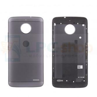 Крышка(задняя) Motorola Moto E4 Серая + кнопки