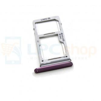 Лоток сим карты и карты памяти Samsung S9 G960FD / S9+ G965FD Dual (2 сим карты) Фиолетовый (Purple)
