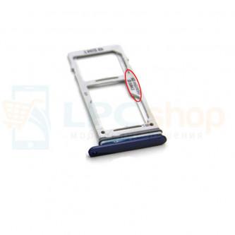 Лоток сим карты и карты памяти Samsung S9 G960FD / S9+ G965FD Dual (2 сим карты) Синий (Blue)