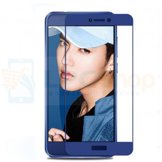 2,5D Защитное стекло (Full Screen) для Huawei Honor 8 Lite Синее (полное покрытие)