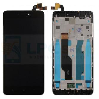Дисплей Xiaomi Redmi Note 4X / Note 4 Global Version с тачскрином в рамке Черный
