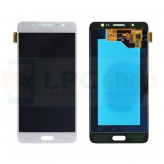 Дисплей для Samsung J510F/J5 2016 в сборе с тачскрином Белый - Оригинал
