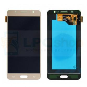 Дисплей для Samsung J510F/J5 2016 в сборе с тачскрином Золото - Оригинал