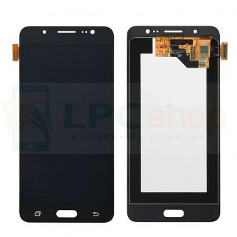 Дисплей для Samsung J510F/J5 2016 в сборе с тачскрином Черный - Оригинал