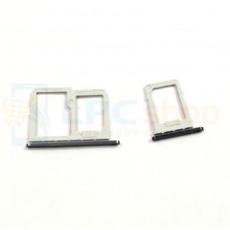 Лоток сим карты и карты памяти LG Q6a M700 (комплект из 2шт) Черный (Black)