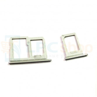 Лоток сим карты и карты памяти LG Q6a M700 (комплект из 2шт) Серебро (Silver)