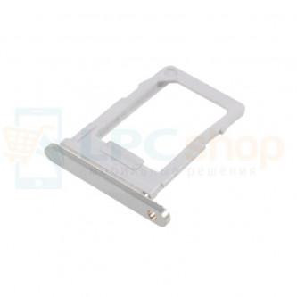 Лоток сим карты (sim2)  LG Q6a M700 Серебро (Silver)
