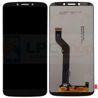 Дисплей для Motorola Moto E5 Plus в сборе с тачскрином Черный