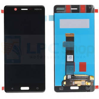 Дисплей для Nokia 5 в сборе с тачскрином Черный - Высокое качество (Орг)