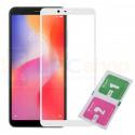 Защитное стекло (Полное покрытие) для Xiaomi Redmi 6 / Redmi 6A Белое