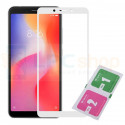 Защитное стекло (Полное покрытие) Xiaomi Redmi 6 / Redmi 6A Белое