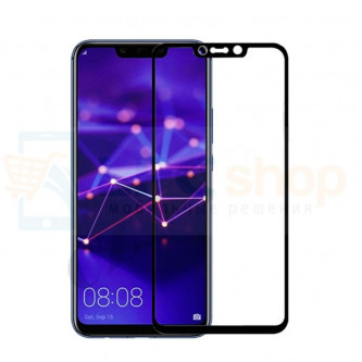 5D Бронестекло (защитное стекло) для Huawei Mate 20 Lite Черное