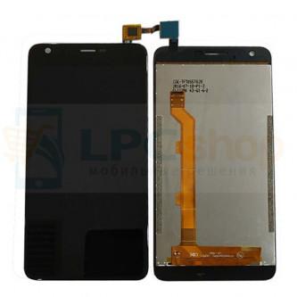Дисплей для Highscreen Easy XL / Easy XL Pro в сборе с тачскрином Черный