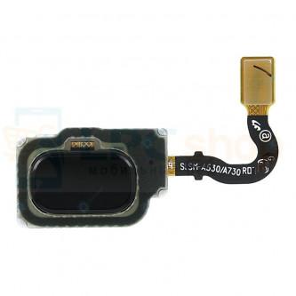 Шлейф Samsung A8 A530F / A8+ (Plus) A730F на сканер отпечатка пальцев Черный