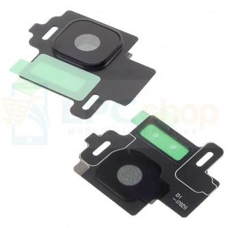 Стекло (для переклейки) камеры Samsung Galaxy S8 G950F / G950FD (с рамкой) Черное