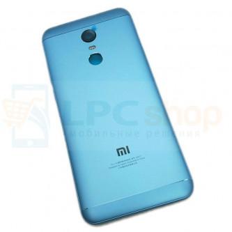 Крышка(задняя) Xiaomi Redmi 5 Plus Синий + Кнопки + Линза Камеры