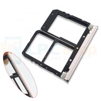 Лоток сим карты и карты памяти Asus ZenFone Max Plus M1 ZB570TL Розовое золото