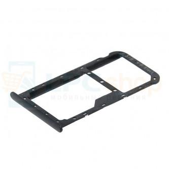 Лоток сим карты и карты памяти Huawei Honor 7X Черный (black)
