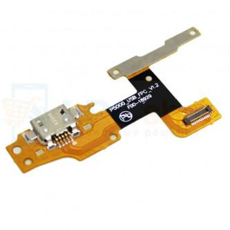Шлейф разъема зарядки Lenovo Tab 3 YT3-X50F / YT3-X50m / YT3-X50l и кнопки громкости (P5000-USB-FPC-V1.2)