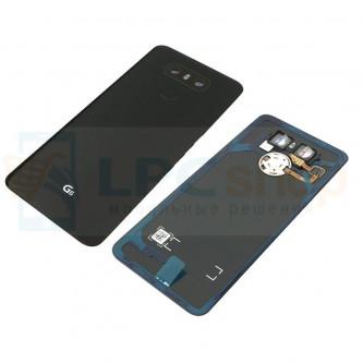 Крышка(задняя) LG G6 H870DS Черная Оригинал ( с линзой и кнопкой)