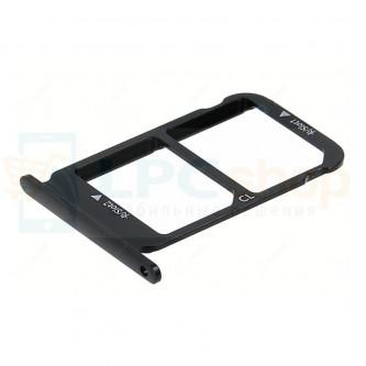 Лоток сим карты и карты памяти Huawei Honor 10 Черный (Midnight black)