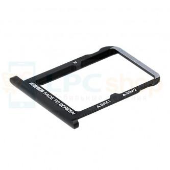 Лоток сим карты Xiaomi Mi 6X / Mi A2 Черный (на 2 сим карты)