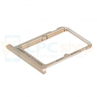 Лоток сим карты Xiaomi Mi 6X / Mi A2 Золотой (на 2 сим карты)