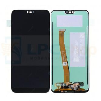 Дисплей Huawei Honor 10 в сборе с тачскрином и отпечатком пальца Черный - Оригинал