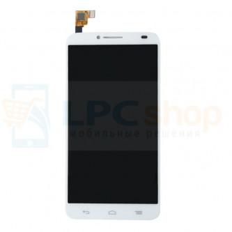 Дисплей Alcatel OT-6037Y / 6037K (Idol 2) в сборе с тачскрином Белый