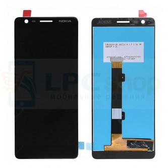 Дисплей Nokia 3.1 (2018) в сборе с тачскрином Черный -  Высокое качество (Орг)