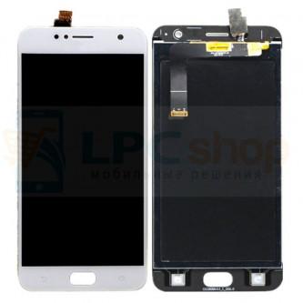 Дисплей Asus ZD553KL (ZenFone 4 Selfie) в сборе с тачскрином Белый